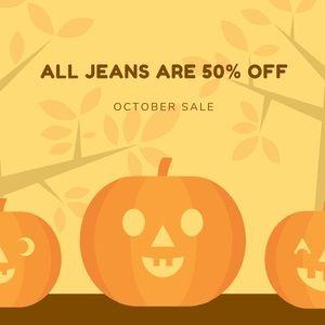 OCTOBER SALE ❗️ 50% OFF JEANS ‼️